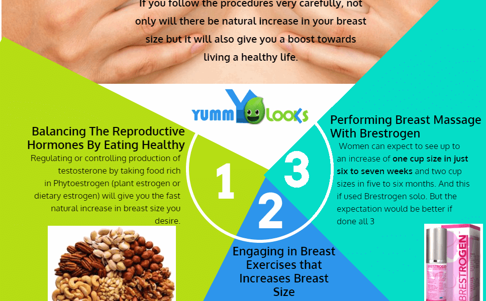 3 ways to increase breast size fast at home in 30 days