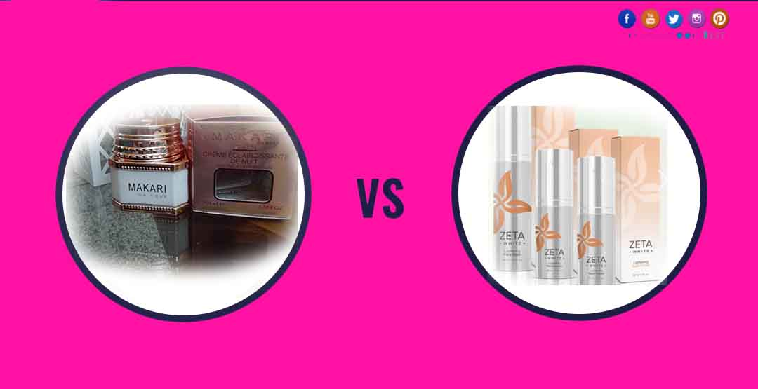 Makari Skin Whitening Cream Vs Zeta White