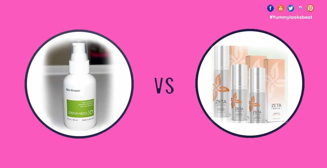Zenmed skin earser vs Zeta white skin whitening skin